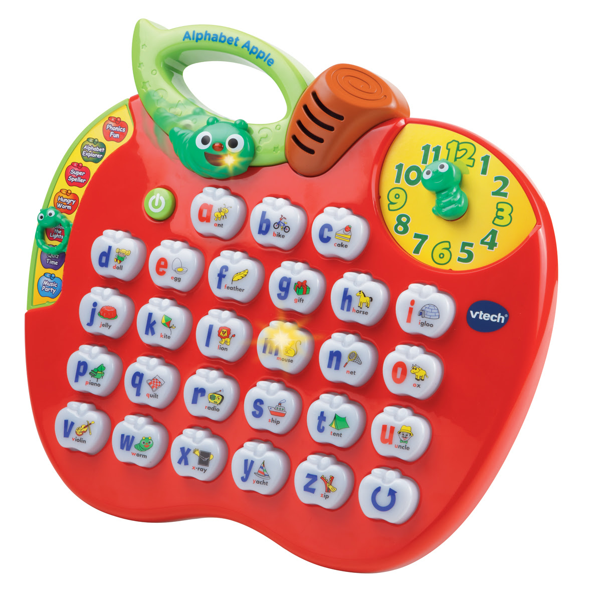 VTECH CHILDRENS EDUCATIONAL INTERACTIVE LIGHT UP ALPHABET APPLE TOY AGE 25 YEAR  eBay