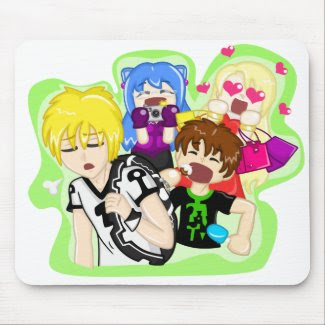 The Boisterous Bunch Mousepad mousepad