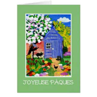 'Spring Garden' Easter Card - French Greeting
