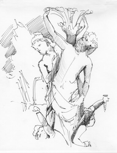 sketch of part of a sculpture by dibujandoarte