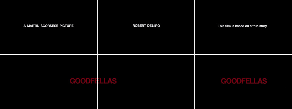 Saul Bass Goodfellas 1990 title sequence