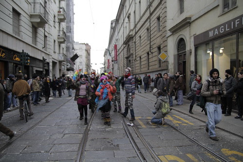 Clowns in student protest