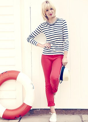 RIGHT: Breton top, £105, trilogystores.co.uk. Jeans, £22.50, marksandspencer.com. Necklace, £95, stelladot.co.uk. Plimsolls, £55, jigsawonline.com. Hat, £67.95, harrods.com