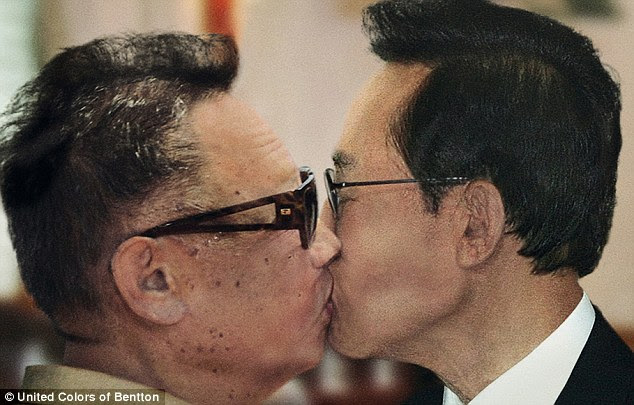 Enemies: North Korean leader Kim Jong-il and Lee Myung-bak, President of South Korea are unlikely to be keen on this picture