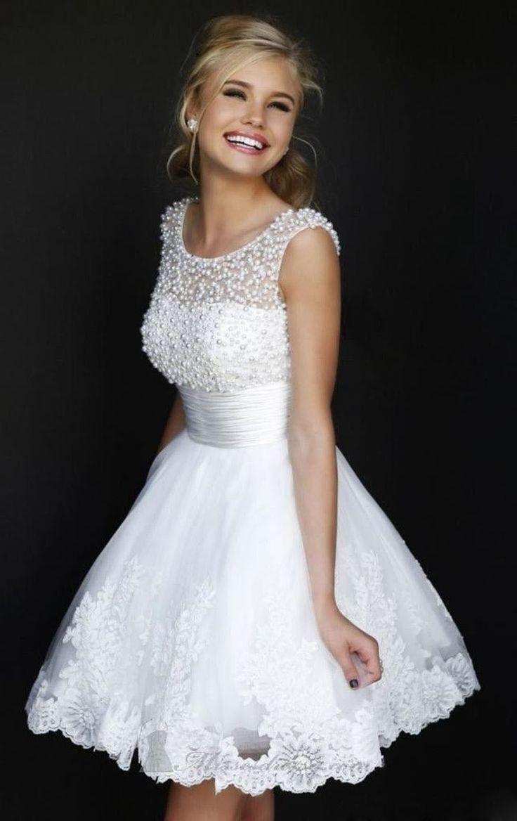 neu weiß/elfenbein kurz formalen abendkleid brauch größe:32