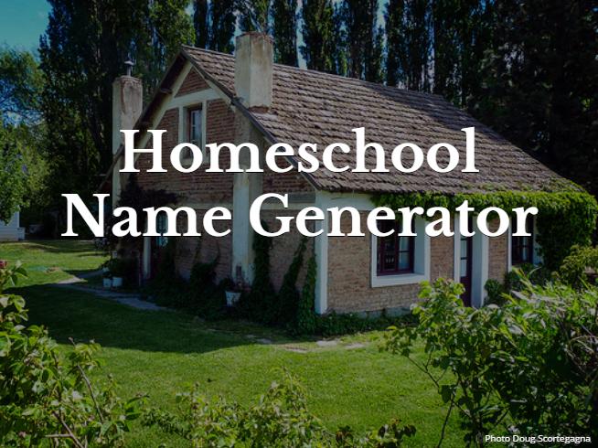 Homeschool Name Generator Eclectic Homeschooling