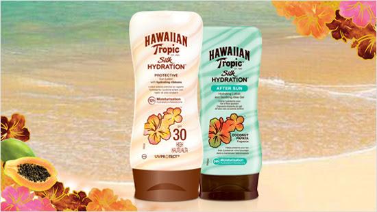 Hawaiian Tropic Silk Hydration è la prima linea di prodotti solari con nastri di seta idratanti…