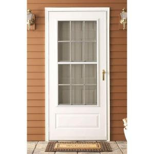 EMCO 36 in. x 80 in. 300 Series White Colonial Triple ...