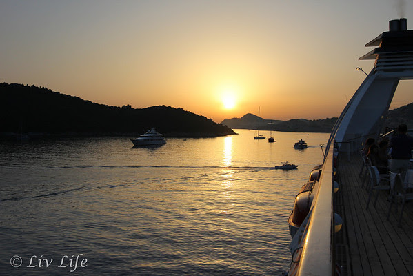 Sunset, Dubrovnik, Seabourn