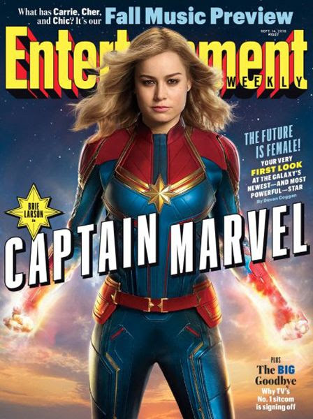 CAPTAIN MARVEL (Brie Larson) graces the cover of a September 2018 issue of Entertainment Weekly magazine.
