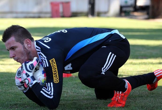 Paulo Victor, treino Flamengo (Foto: Divulgação)
