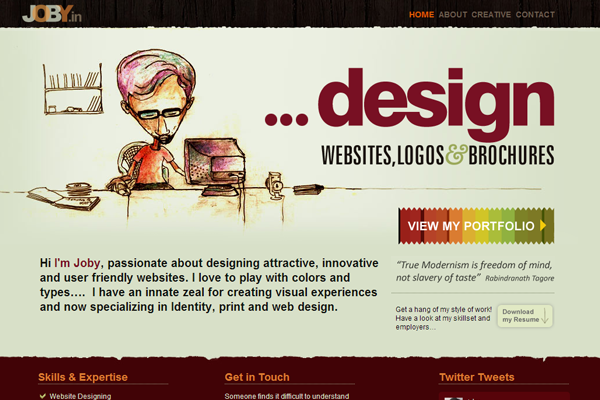 JOBY website interface graphics designs