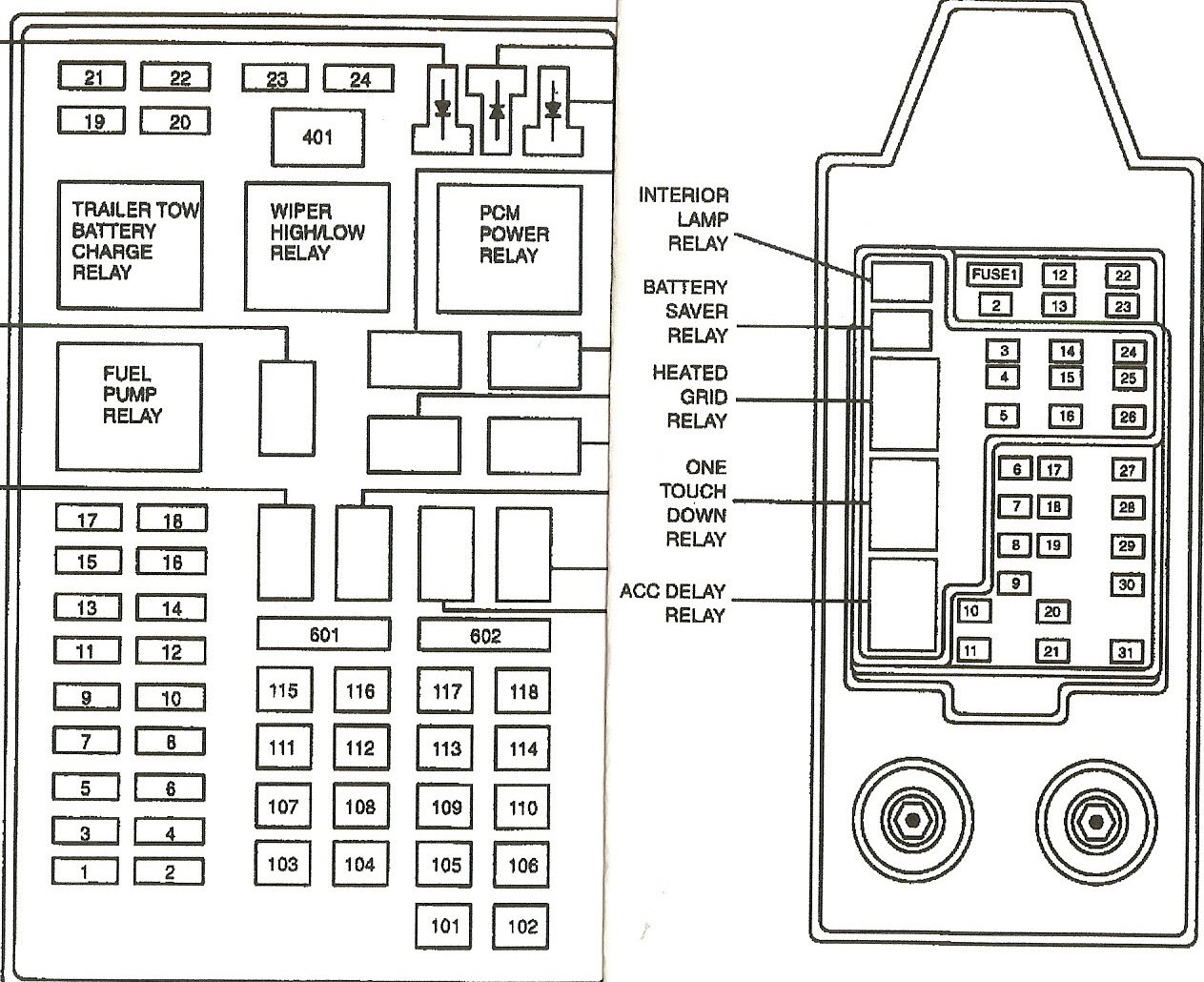 Fuse Box Diagram For 2002 Ford Excursion 2001 Jeep Grand Cherokee Electric Fan Relay Wiring Diagram Wiring Diagram Schematics