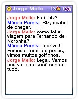 Messenger no celular – simples e familiar.