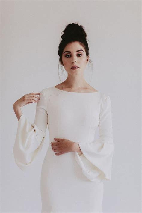 27 Trendy Bell Sleeve Wedding Dresses To Try   Weddingomania