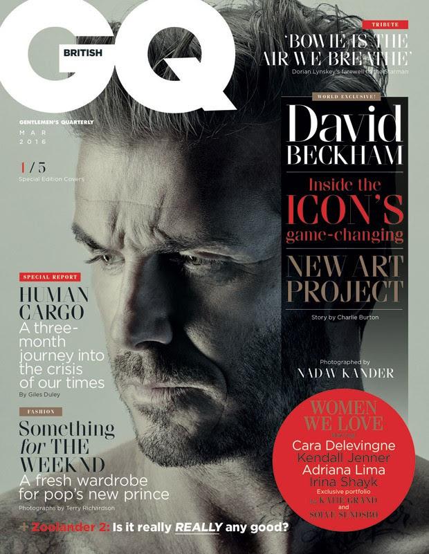 David Beckham Covers British Gq March 16