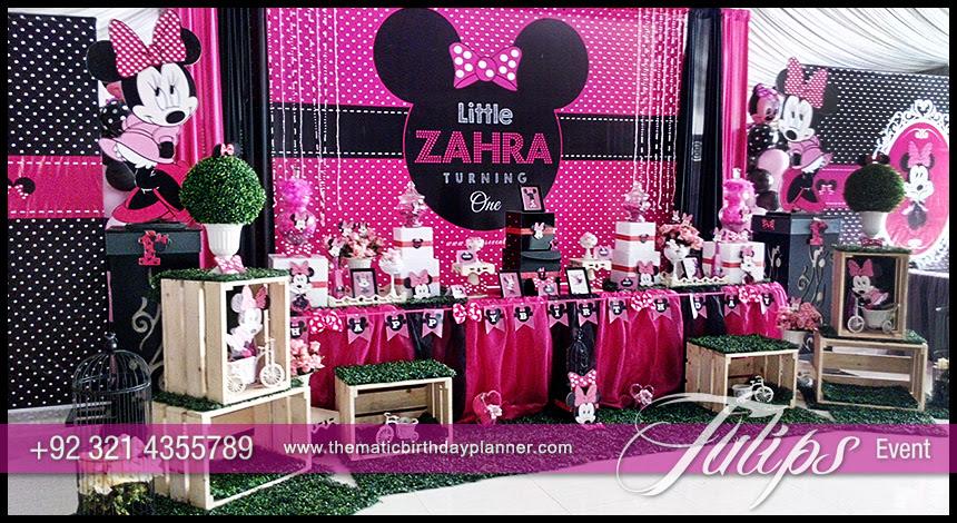 Minnie Mouse Party Theme Decoration Ideas In Pakistan