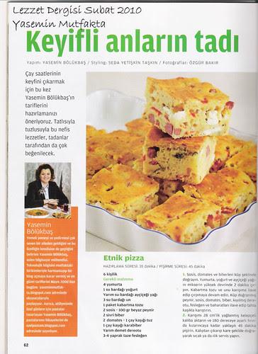 Lezzet Şubat 2010 - Etnik Pizza