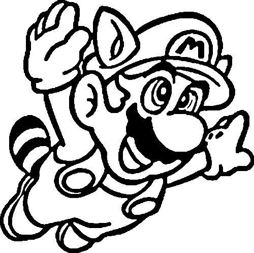 Coloriage A Imprimer Mario