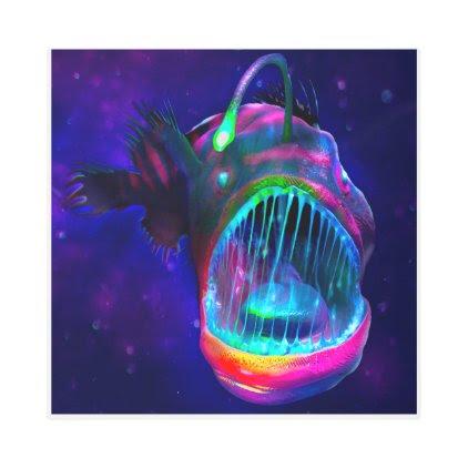 Anglerfish Metal Wall Art