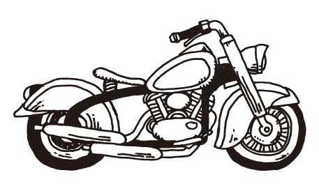 レトロなバイクアメリカン風のイラスト素材ai乗り物イラストの