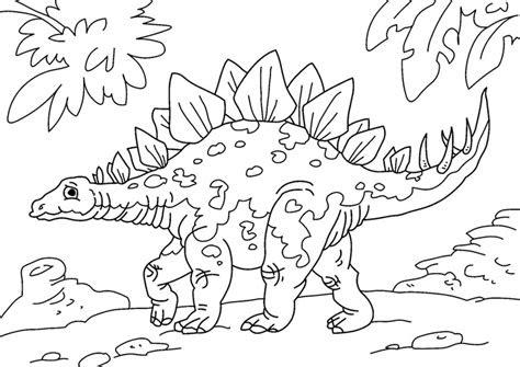 ausmalbilder dinosaurier stegosaurus - kostenlose malvorlagen ideen