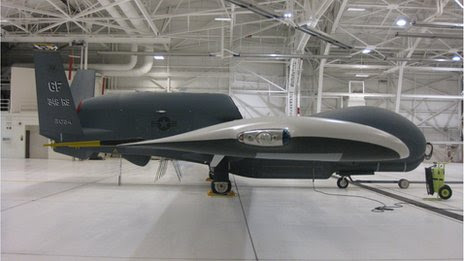 Side view of Global Hawk clean