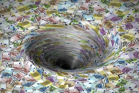 El dinero no está en un agujero negro.