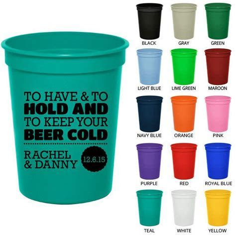 Personalized Plastic Cups (Clipart 1807) To Have and To