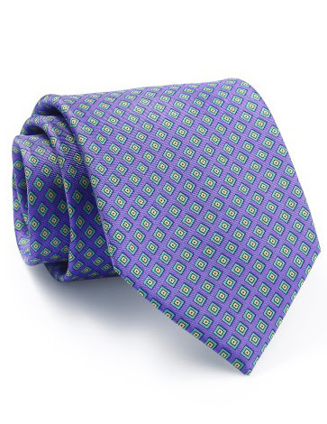Mẫu Cravat Đẹp 3 - Tím Caro