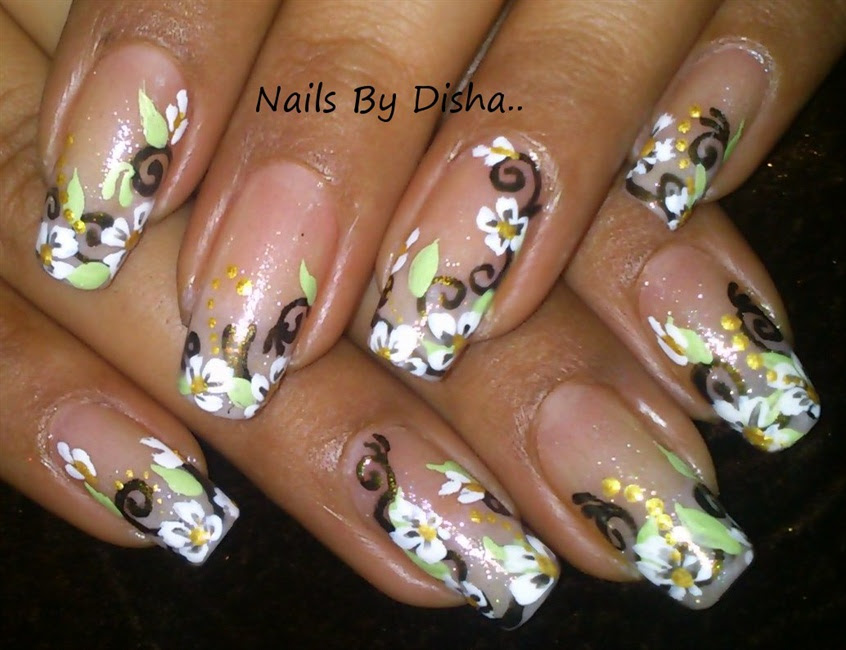soft floral - Nail Art Gallery Step-by-Step Tutorial Photos