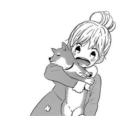 anime girl kawaii dog       pinterest