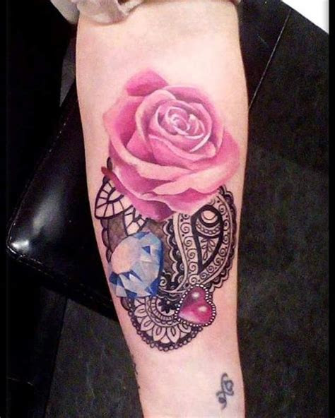 watercolor rose diamond tattoo venice tattoo art designs