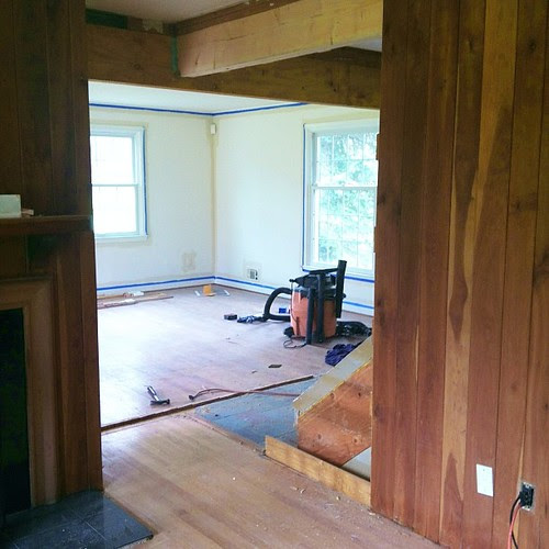 Walls are down...view from kitchen into the Living room #macehouse