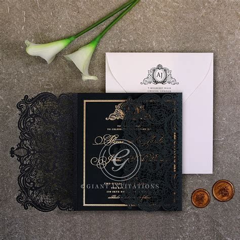 Rich & Regal Laser Cut   Luxe and Foil Wedding Invitation