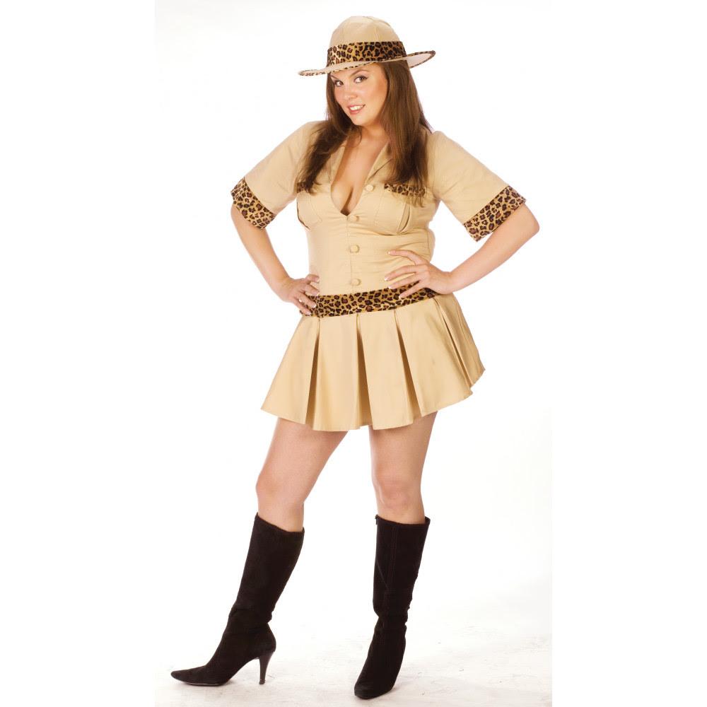 plus size sexy safari adult costume size l 120175l