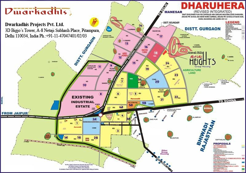 Real Estate Information  Dharuhera Location Map And Key