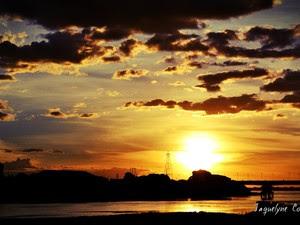 """""""O arrebol em Petrolina é encantador porque aqui o sol brilha com muito mais beleza! """" (Foto: Jaquelyne de Almeida Costa/Arquivo pessoal)"""