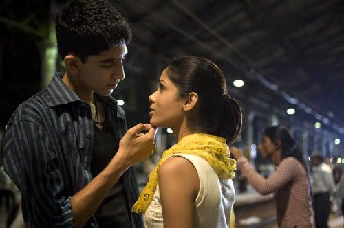 Jamal finally reunites with Latika (Freida Pinto) in SLUMDOG MILLIONAIRE.
