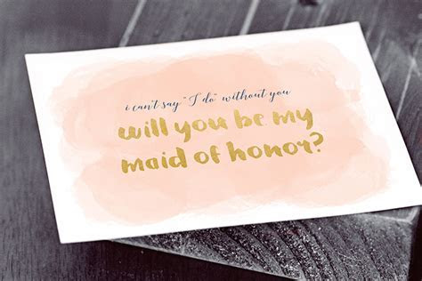 """6 Ways to Ask """"Will You Be My Bridesmaid?""""   Printables"""