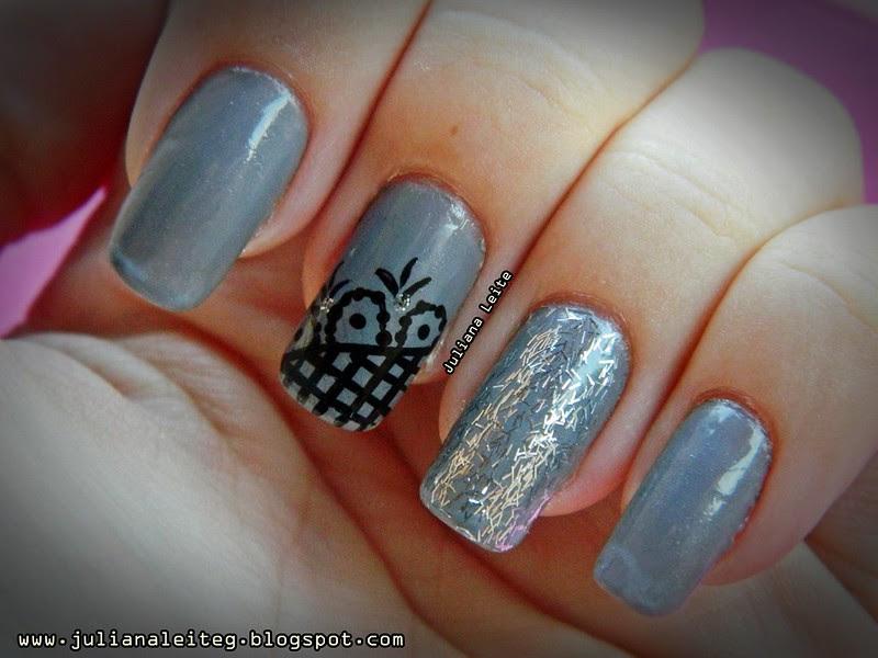 juliana leite unhas nail art decoradas desenho glitter 073