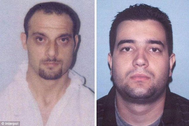 Caught: But the Panthers' days could be numbered as several key members have been arrested, including Nebojsa Denic (left) and Milan Jovetic (right) , who took part in the 2003 £23million Graff Diamonds robbery