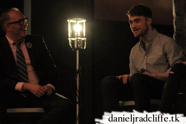 Daniel Radcliffe at The Cripple of Inishmaan talkback & Inishmaan Aunties photo