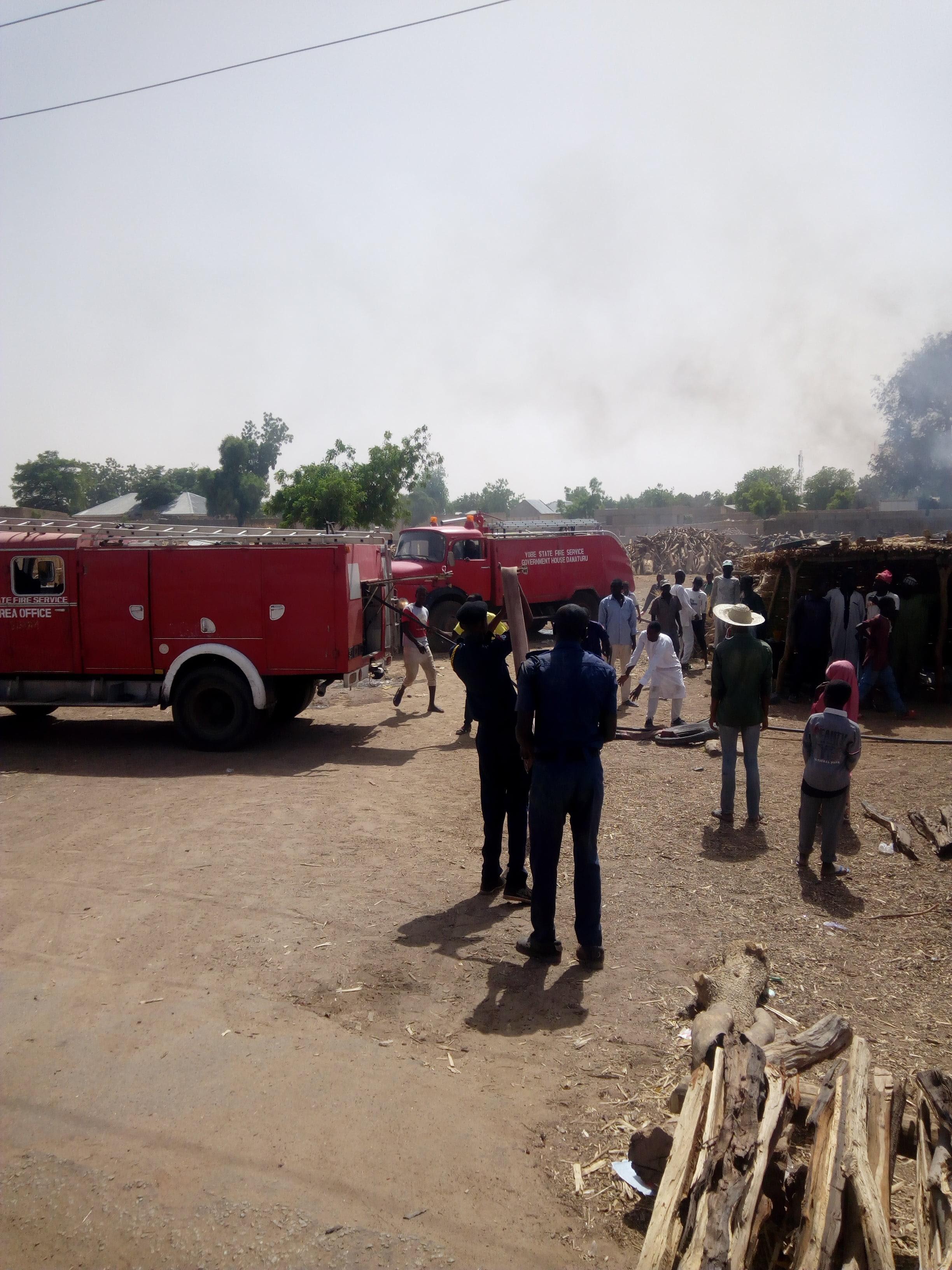 Fire guts wood depot in Yobe