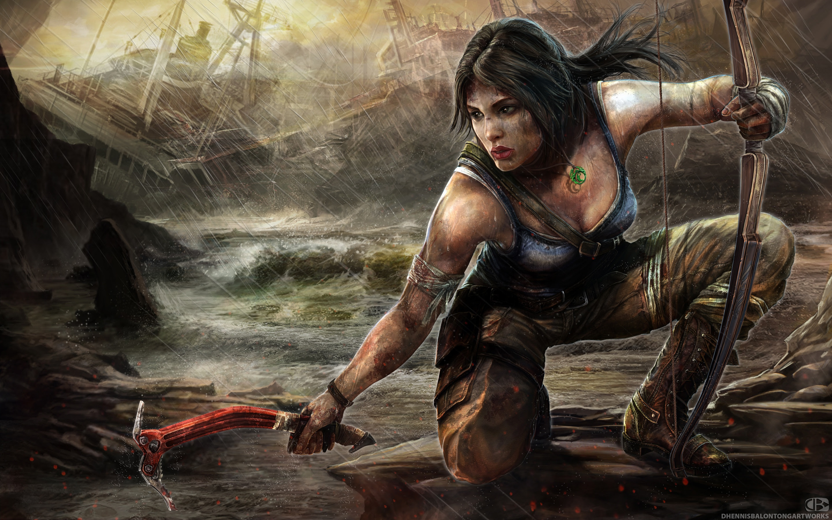 Lara Croft Tomb Raider Artwork Wallpapers In Jpg Format For Free