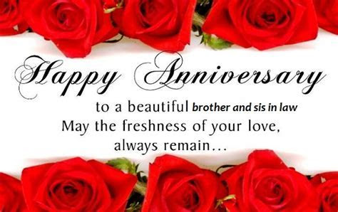 Anniversary Wishes To Brother And Sister In Law   Wishes