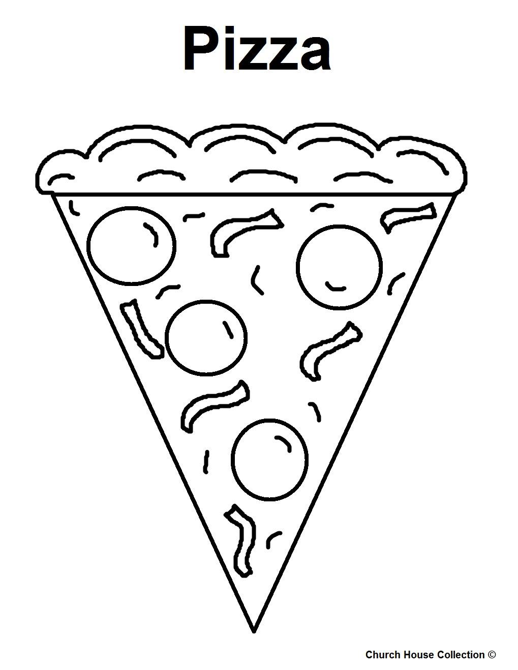 Dapatkan Gambar Mewarnai Pizza