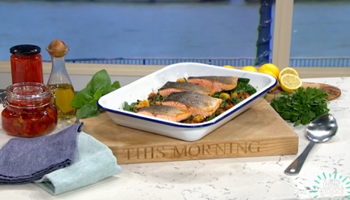 Phil Vickery salmon with pumpkin gnocchi and roasted ...