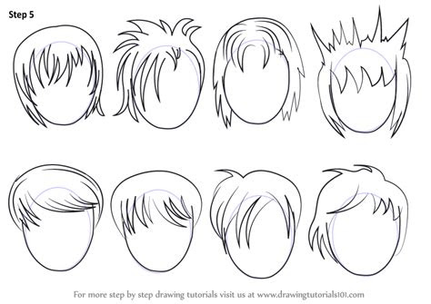 learn   draw anime hair male hair step  step
