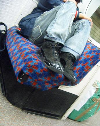 Feet on Tube seats